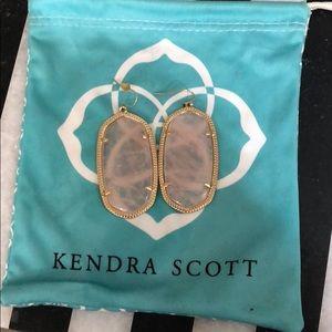 Kendra Scott rose quartz Danielle earrings